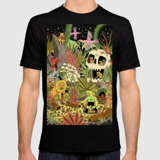 The Jungle SMALL Black Mens Fitted Tee
