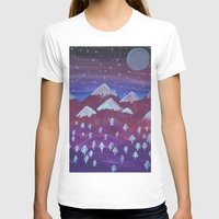 middle earth T-shirts featuring Lost in Middle earth by moonlight by ForestSeaSky2000