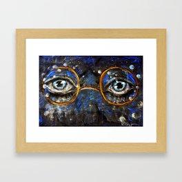 Gatsby Eyes Framed Art Print