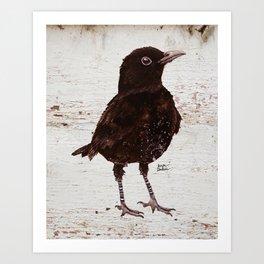 Black Bird Blakely (Vintage Edition) Art Print
