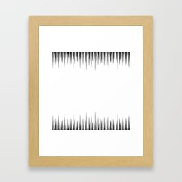 Raising the frequency Framed Art Print