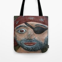 pirate Tote Bags featuring Pirate by Fine2art