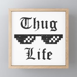 Thug life glasses print Framed Mini Art Print