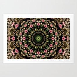 Cacti Concentric Art Print