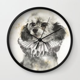 Royal Poodle Wall Clock