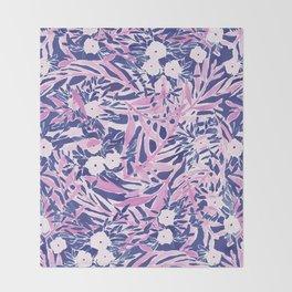Tropical Daydream Blue Blush Throw Blanket