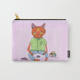 Cat On the Tracks  Carry-All Pouch