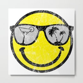 Happy Beach Face | Beach Designs | DopeyArt Metal Print