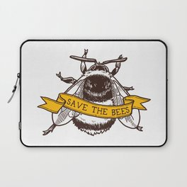 Save The Bees! (Bumblebee) Laptop Sleeve