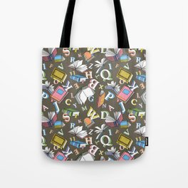Books and Letters Tote Bag