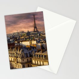 France Photography - Beautiful Sky Over Paris Stationery Cards