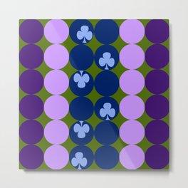 Blue clovers and purple haze Metal Print