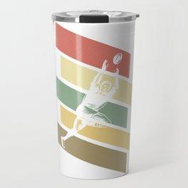 Vintage Retro Rugby Gift Travel Mug