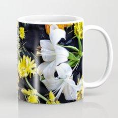 Fresh blooms on black Mug