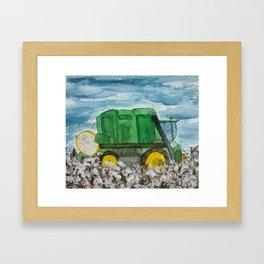 Cotton Picker Framed Art Print