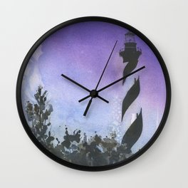 Cape Hatteras lighthouse- Outer Banks, North Carolina at sunset.  Lighthouse decor Wall Clock