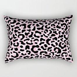 Leopard print / Pale pink Rectangular Pillow