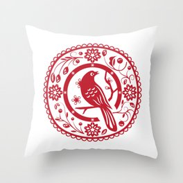 Traditional chinese paper cut Throw Pillow
