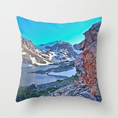 Froze To Death Lake Throw Pillow