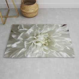 White Floral Rug