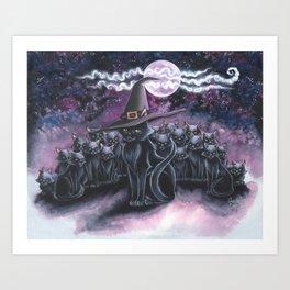 Black Caturday Art Print