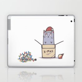 Confused Christmas Cat Laptop & iPad Skin
