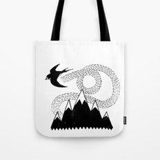 Mountain Swallow Tote Bag