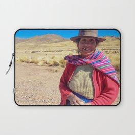 Peruvian village woman. Laptop Sleeve