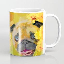 Pug in Daisies Coffee Mug