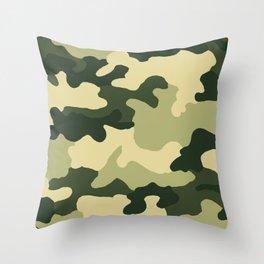 Can you see me Camo Green Throw Pillow