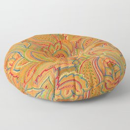 peach paisley Floor Pillow