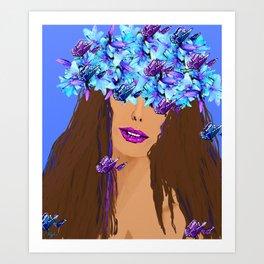 WOMAN I KNOW WHO I AM Art Print