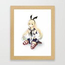 shimakaze Framed Art Print