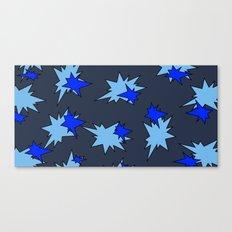 Stars (Navy & Sky on Blue) Canvas Print