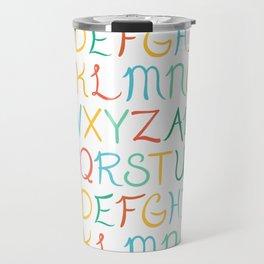 Hand Lettered Alphabet Travel Mug