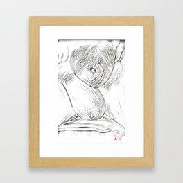 Breast Love Framed Art Print