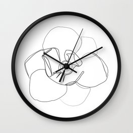 """""""Botanical Collection"""" - Magnolia Flower Print Wall Clock"""