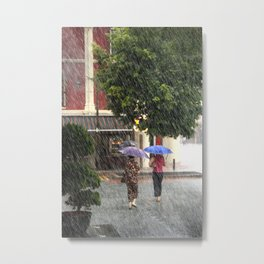 Wet Day in the City Metal Print