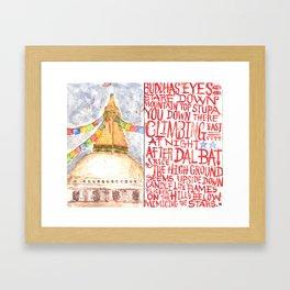 Tantric 2 (Travel Journal Entry) Framed Art Print