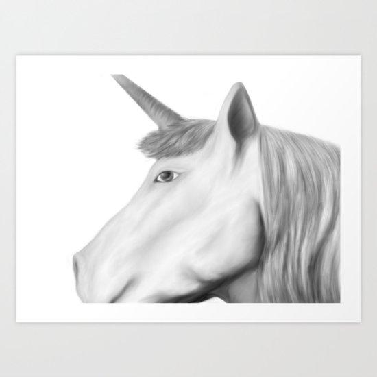 Kathryn's Unicorn Art Print