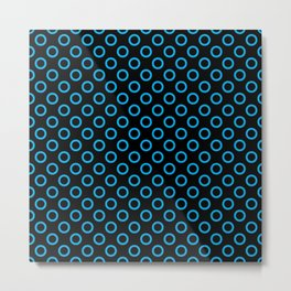 Blue Rings with Black Background Metal Print