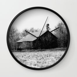 Life is better in the barn Wall Clock