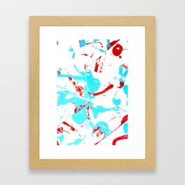 Create a Mess! Paint Splatters Red and Blue Framed Art Print