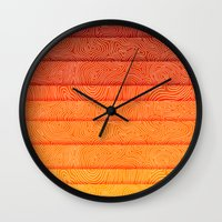 sunrise Wall Clocks featuring Sunrise by Diogo Verissimo