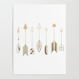 Be Brave Little Arrow (gold) Poster
