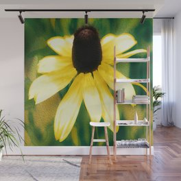 Vibrant Yellow Coneflower Wall Mural