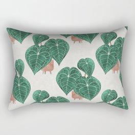 Anthurium clarinervium (potted) Rectangular Pillow