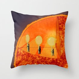 Inner Workings of the Sun Throw Pillow