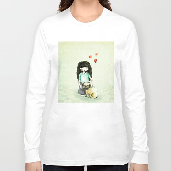 Pug is my best friend Long Sleeve T-shirt