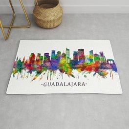 Guadalajara Mexico Skyline Rug
